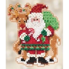 Набор для вышивания Mill Hill MH182305 Santa and Rudolph