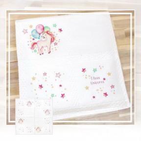 Набор для вышивки Luca-S BO103 Детское одеяло фото