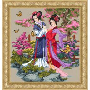 Набор для вышивания Kustom Krafts 98477 Asian Beauties фото