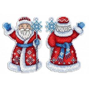 Набор для вышивки крестом МП Студия  Р-312 Дедушка Мороз
