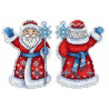 Набор для вышивки крестом МП Студия Р-312 Дедушка Мороз фото