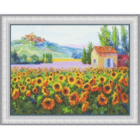 Набор для вышивания крестиком OLanTa VN-080 Цветущие поля