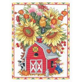 Набор для вышивания Janlynn 053-0400 Barn Birdhouse Bouquet фото