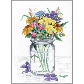 Набор для вышивания Janlynn 017-0112 Wildflower Jar фото