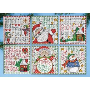 Набор для вышивания Design Works 1698 Home for Christmas фото