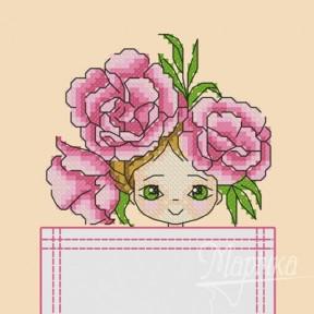 Набор для вышивки крестиком на одежде Марічка НКВ-001 Цветочная