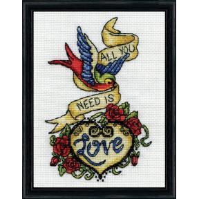 Набор для вышивания Design Works 2967 Love Tattoo фото