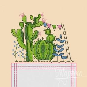 Набор для вышивки крестиком на одежде Марічка НКВ-002 Кактусы