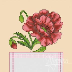 Набор для вышивки крестиком на одежде Марічка НКВ-005 Мак фото
