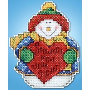 Набор для вышивания Design Works 565 Snowman фото