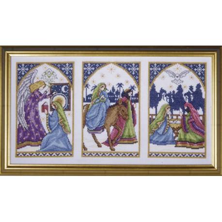 Набор для вышивания Design Works 5458 Christmas ABC Sampler