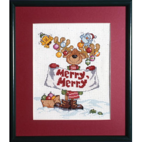 Набор для вышивания Design Works 1059 Merry Merry Moose фото