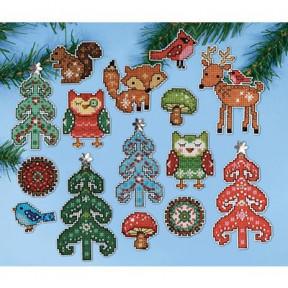 Набор для вышивания Design Works 1694 Woodland Friends фото