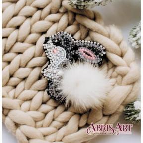 """Набор для вышивки бисером украшения на натуральном художественном холсте AD-026 """"Зайка"""""""