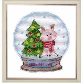 Набор для вышивки крестом Овен 1112 Снежный шар