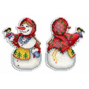 Набор для вышивки крестом МП Студия Р-319 Снеговушка