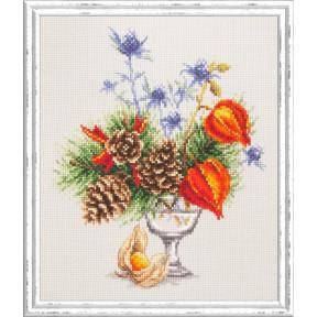 Набор для вышивки крестом Чудесная игла 100-001 Зимний букетик