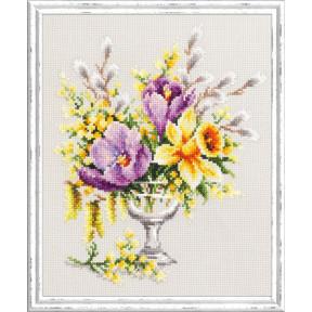 Набор для вышивки крестом Чудесная игла 100-002 Весенний