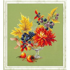 Набор для вышивки крестом Чудесная игла 100-005 Осенний букетик