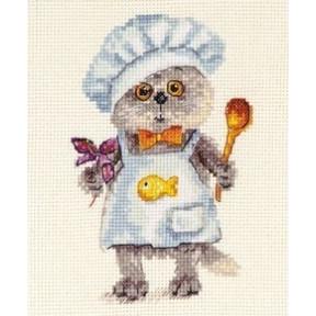 Набор для вышивки крестом Алиса 0-182 Басик шеф-повар фото