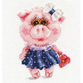 Набор для вышивки крестом Алиса 0-183 Свинка Тося фото