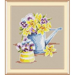 Набор для вышивки крестом МП Студия М-017 Феерия цветов
