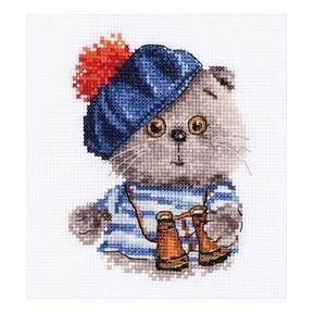 Набор для вышивки крестом Алиса 0-190 Басик моряк