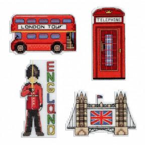 Набор для вышивки крестом МП Студия Р-305 Англия. Магниты