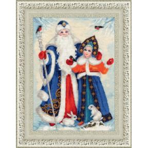 Набор для вышивки крестом Золотое Руно СО-015 Дед Мороз и Снегурочка