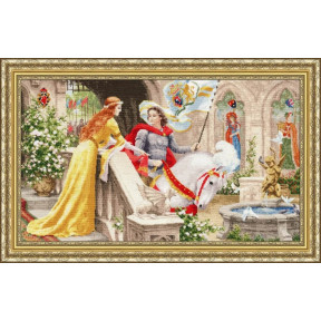 Набор для вышивки крестом Золотое Руно ЧМ-068 Рыцарь на белом коне