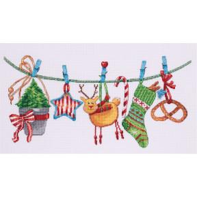"""Набор для вышивки крестом Panna ПР-7093 """"Новогодняя гирлянда"""""""