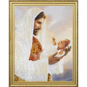 """Набор для вышивания бисером  Картины Бисером Р-363 Икона Божей Матери """"Нерушимая стена"""""""