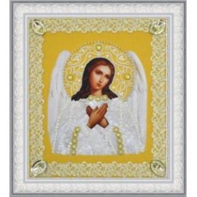 Набор для вышивания бисером  Картины Бисером Р-371 Икона Ангела Хранителя (серебро) ажур