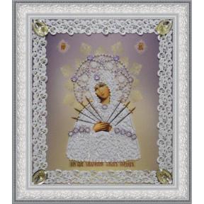 Набор для вышивания бисером  Картины Бисером Р-372Икона Ангела Хранителя (золото) ажур
