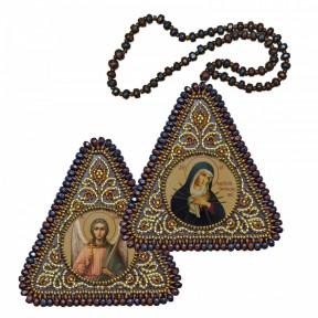 """Набор для вышивания двухсторонней иконы Нова Слобода ВХ-1015 """"Умягчение злых сердец"""" и Ангел Хранитель"""""""