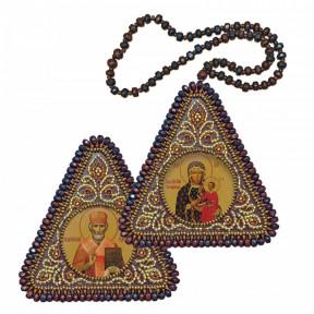 """Набор для вышивания двухсторонней иконы Нова Слобода ВХ-1035 """"Богородица Одигитрия и Николай Чудотворец"""""""