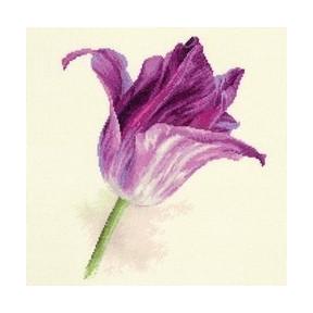 Набор для вышивки крестом Алиса 2-44 Тюльпаны. Сиреневый бархат