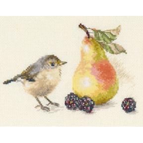 Набор для вышивки крестом Алиса 5-22 Птичка и яблоко