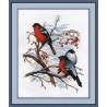 Набор для вышивки крестом Овен 565 Снегири фото