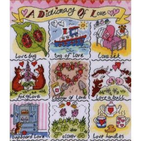 Набор для вышивания крестом Bothy Threads XDO11 Dictionary of Love