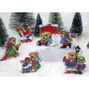 Набор для вышивания крестом Classic Design Рождественские мишки