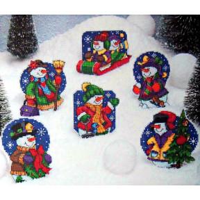 Набор для вышивания крестом Classic Design 4461 Рождественские мишки