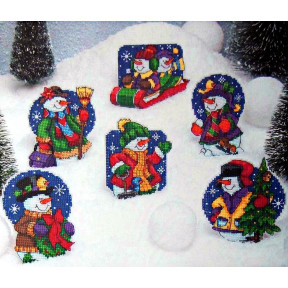 Набор для вышивания крестом Classic Design Снеговички 4462 фото