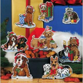 Набор для вышивания крестом Classic Design 4463 Новогодние коты