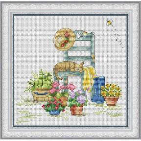 Набор для вышивания крестиком OLanTa VN-104 Летний домик