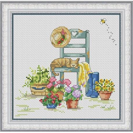 Набор для вышивания крестиком OLanTa VN-107 Сладкий сон фото