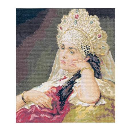 Набор для вышивки крестом Panna ВХ-0904 Девушка в жемчужном