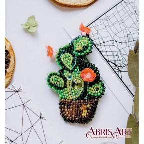 """Набор для вышивки бисером украшения на натуральном художественном холсте AD-030 """"Зеленое яблоко"""""""