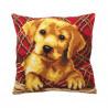 """Подушка для вышивания крестом Collection D'Art 5160 """"Cute Puppy"""