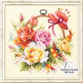 Набор для вышивки крестом Чудесная игла 100-122 Розы для